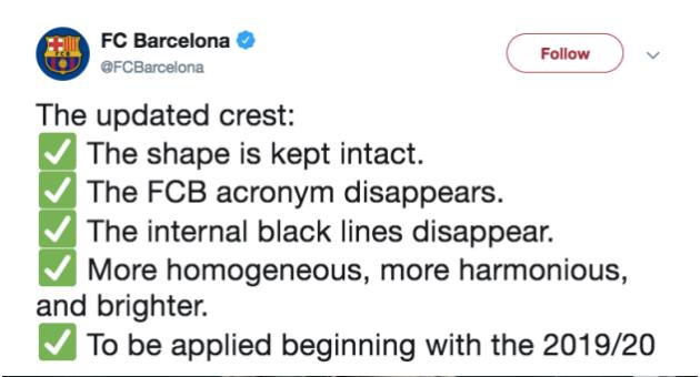Barcelona bất ngờ thay đổi biểu tượng logo - Bóng Đá