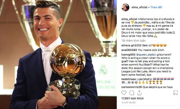 Chị gái Ronaldo đổ lỗi cho... mafia sau khi em trai hụt giải Ballon d'Or - Bóng Đá