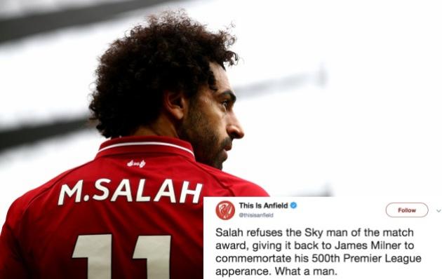 Vì sao Salah từ chối danh hiệu
