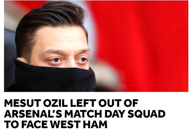 Sốc! Lý do thực sự khiến Ozil vắng mặt là rất