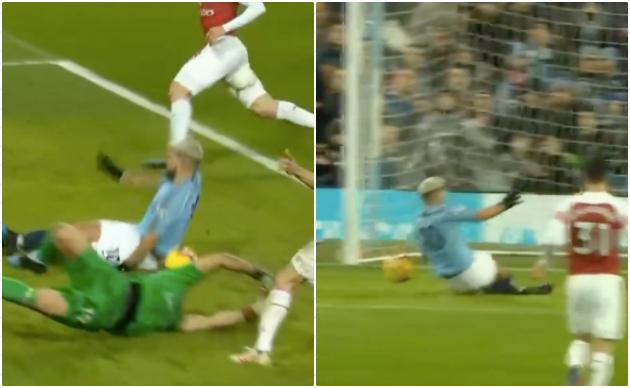 Bóng đã chạm tay Aguero trước khi đi vào lưới Arsenal? - Bóng Đá