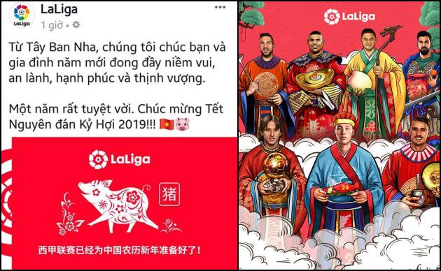 Trang chủ La Liga chúc Tết, NHM Việt Nam phản ứng gay gắt - Bóng Đá