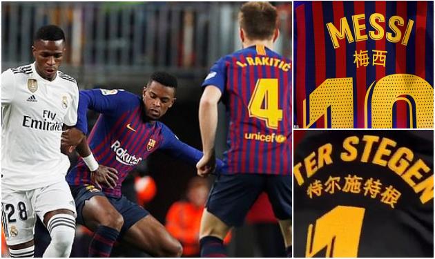 Barca bị cấm mặc áo đấu Trung Quốc ở El Clasico - Bóng Đá
