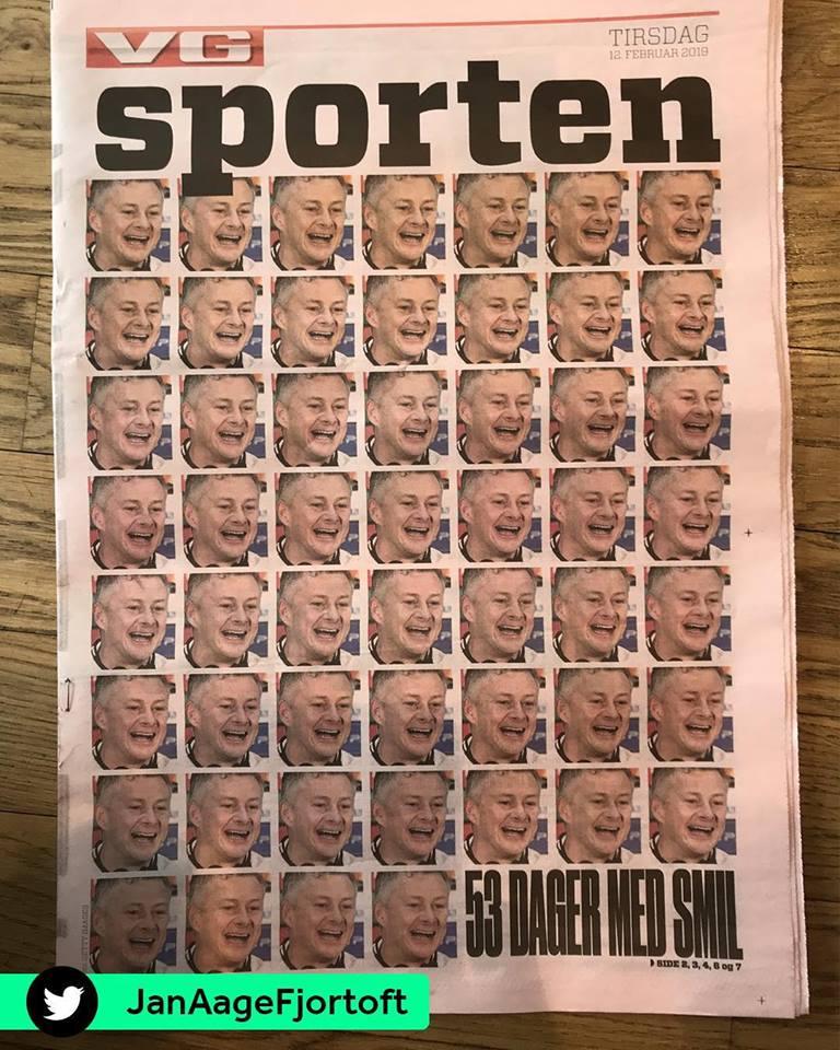 Sốc nặng! Trang nhất báo Na Uy đưa lên 53 hình ảnh Solskjaer - Bóng Đá