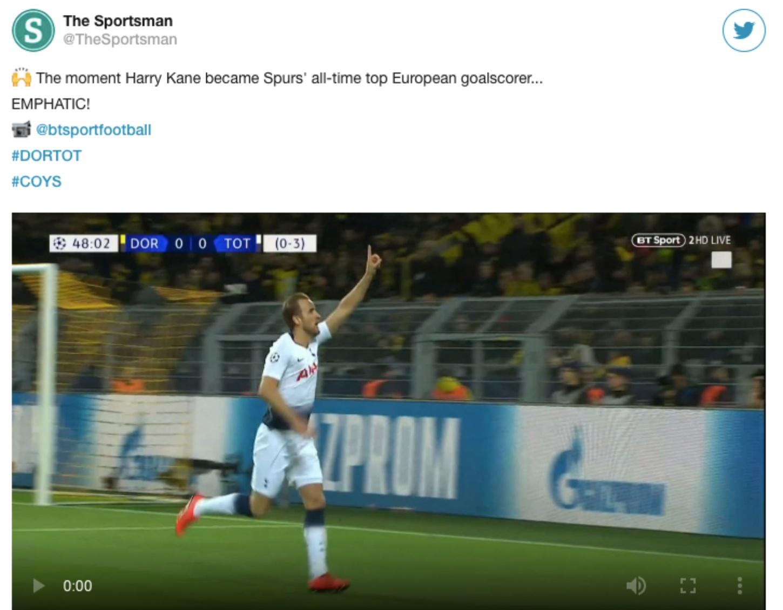 Bắn hạ Dortmund, Kane sánh vai Rô