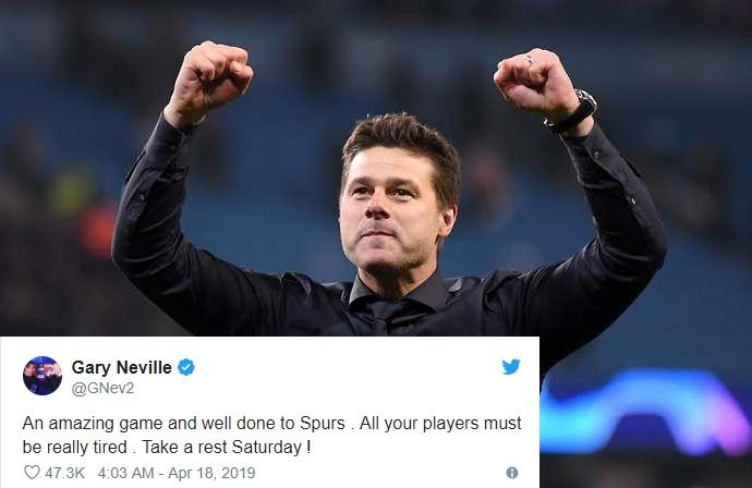 Spurs đả bại Man City, Neville hiến kế siêu hài hước cho Pochettino - Bóng Đá