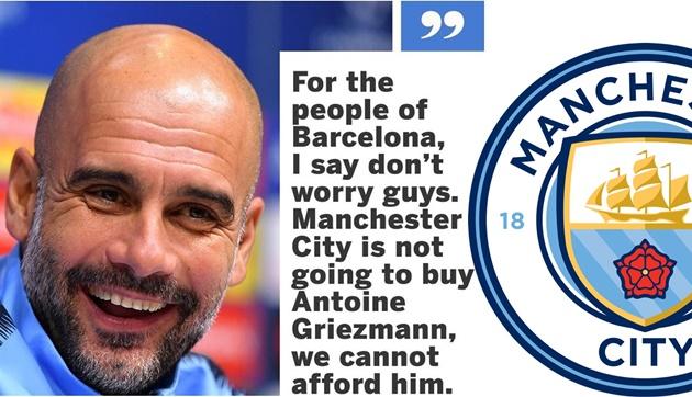 Tuyên bố của Guardiola về Griezmann là