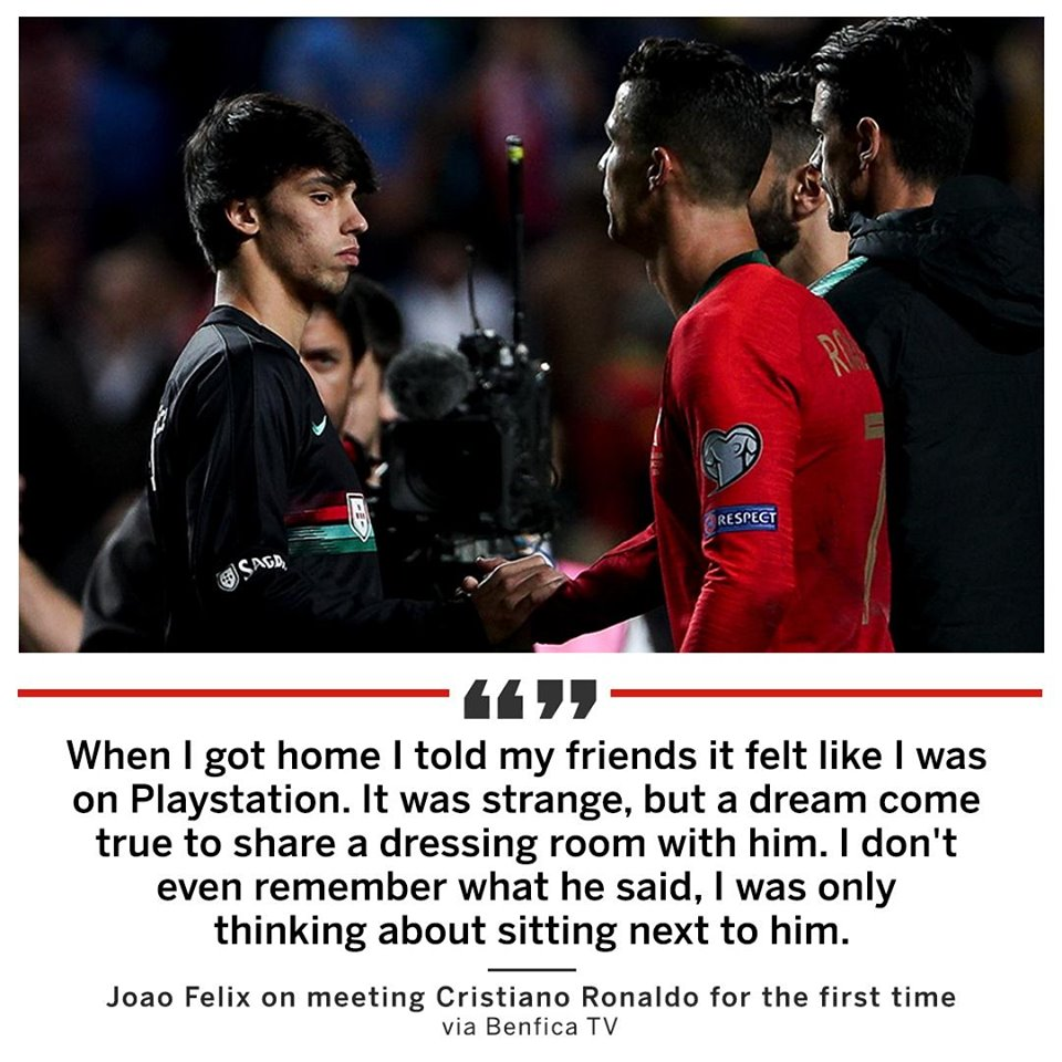 Joao Felix recalls meeting Cristiano Ronaldo for the first time in March  - Bóng Đá