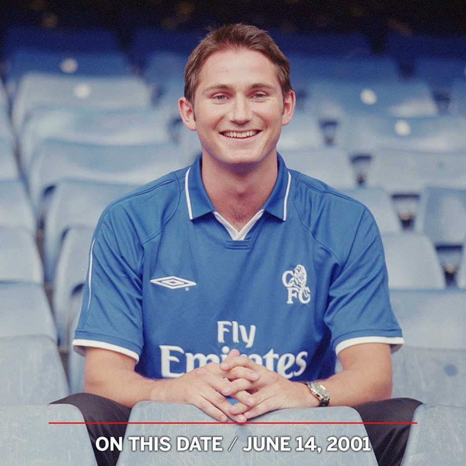 On this day in 2001, Chelsea Football Club signed Frank Lampard from West Ham - Bóng Đá