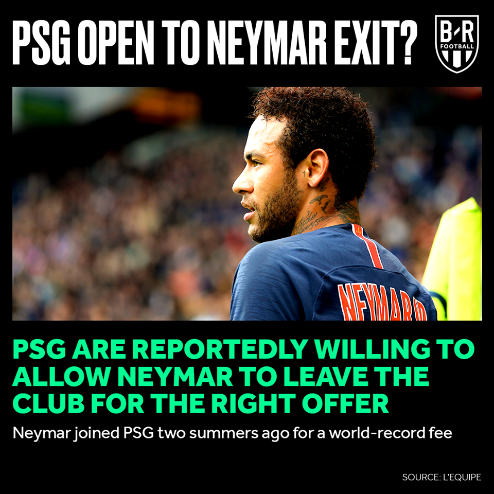 PSG are reportedly willing to allow to Neymar to leave the club for the right offer - Bóng Đá