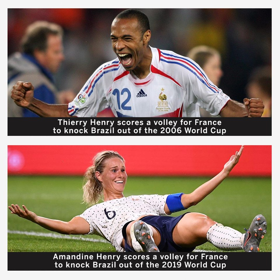 Same name. Same goal. Same opponent. Same tournament. Same nation France 1-0 Brazil - Bóng Đá