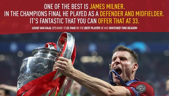 Louis van Gaal is a fan of James Milner - Bóng Đá