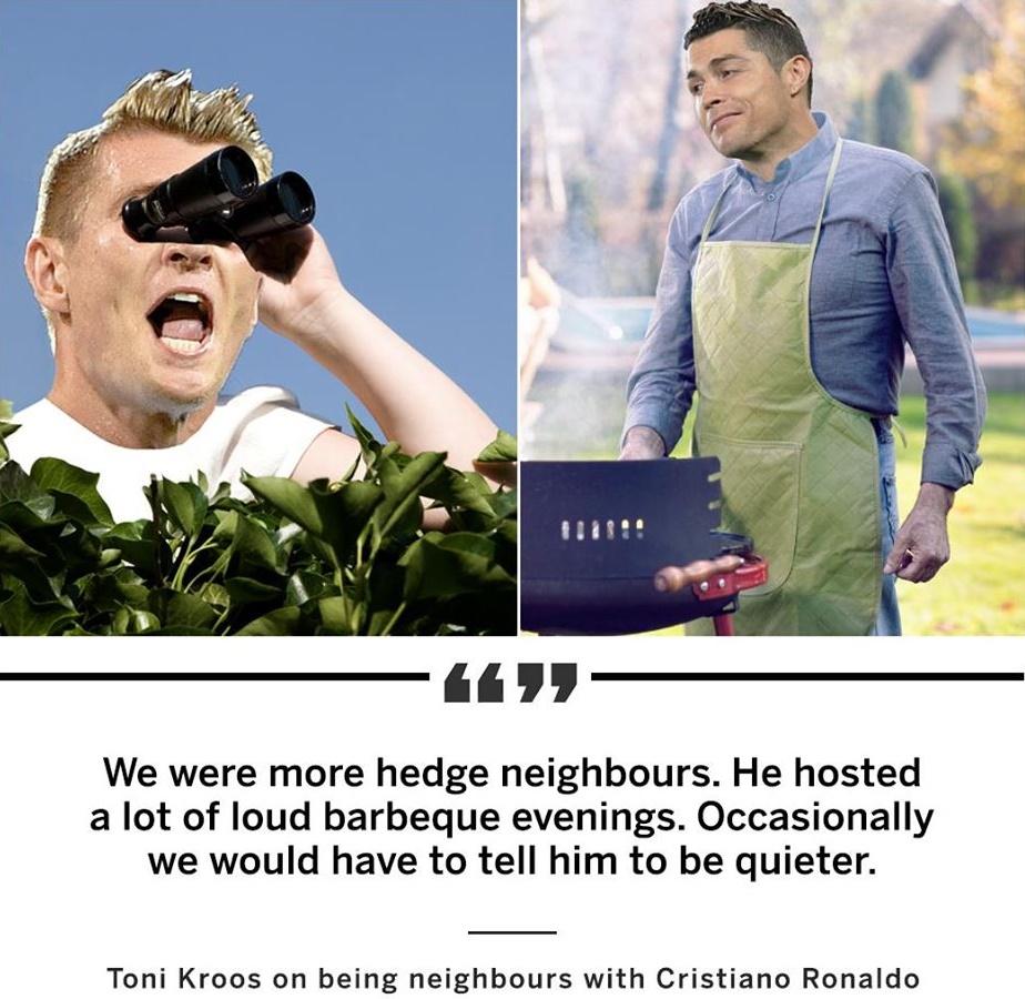 Kroos on Ronaldo BBQ - Bóng Đá