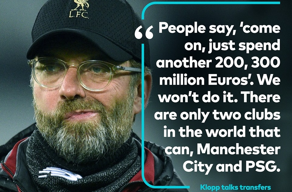 Klopp on Man City and PSG - Bóng Đá