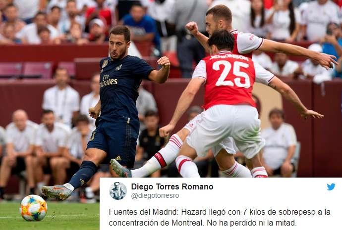 Eden Hazard arrived at Real Madrid 7kg overweight - Bóng Đá