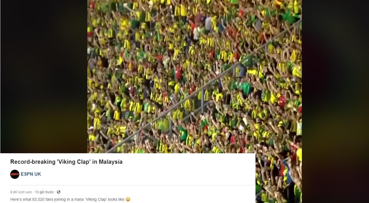 Ultras Malaya khiến quốc tế phát sốt vì màn ăn mừng