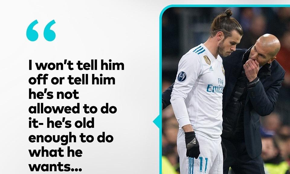 Zidane keeps on talk about Bale - Bóng Đá