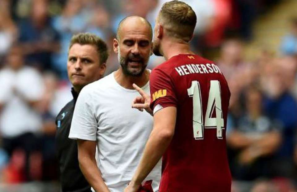 Jordan Henderson marched over and confronted Pep Guardiola during Liverpool v Man City - Bóng Đá