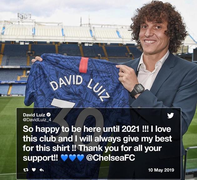 Rời Chelsea quá mau lẹ, David Luiz nói gì? - Bóng Đá