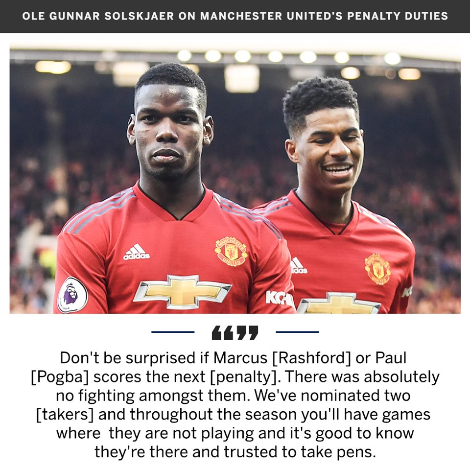 Paul Labile Pogba and Marcus Rashford will continue to decide who takes penalties for Manchester United  - Bóng Đá