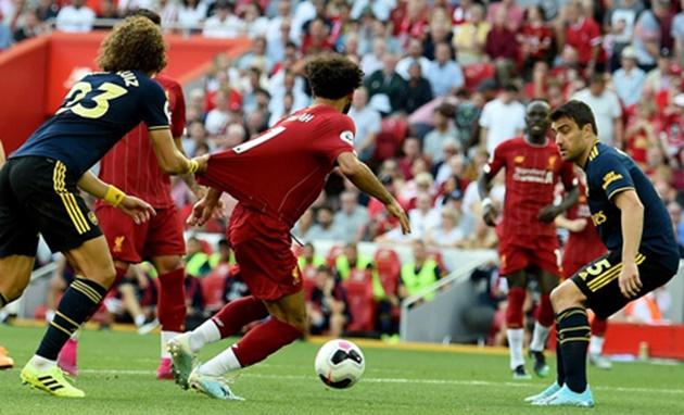 Unai Emery doesn't think David Luiz's shirt-pull on Mohamed Salah was a penalty - Bóng Đá