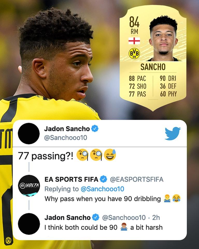 Sancho cãi nhau FIFA 20 - Bóng Đá