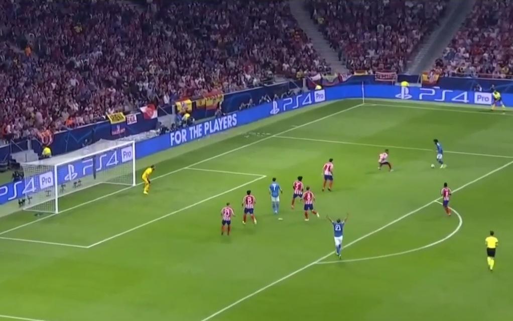 Atletico phòng ngự ra sao ở tình huống ghi bàn của Cuadrado? - Bóng Đá