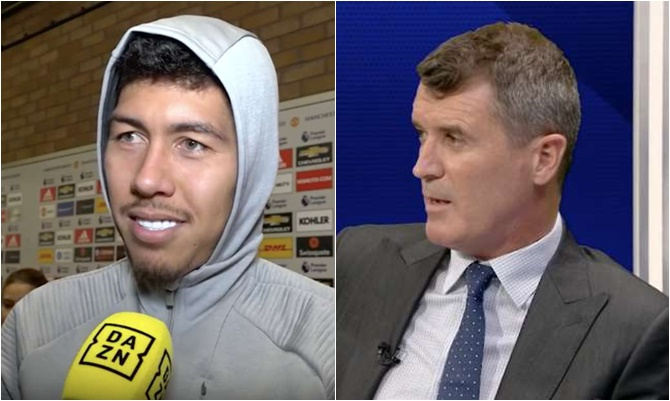 Roberto Firmino responds after Roy Keane rages at Man Utd and Liverpool players 'hugging' in the tunnel - Bóng Đá