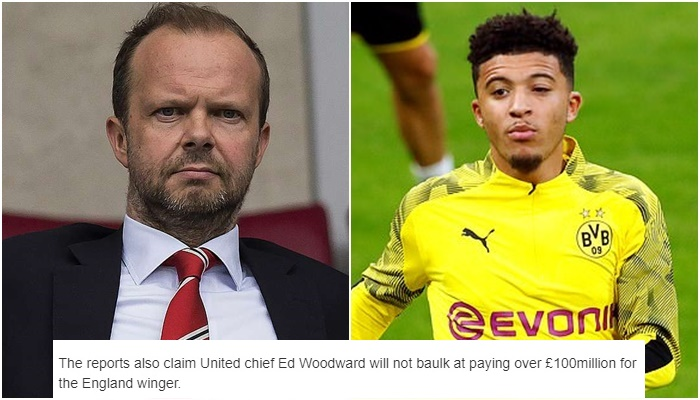 Man Utd working on Jadon Sancho transfer with Ed Woodward ready to meet Dortmund demands - Bóng Đá