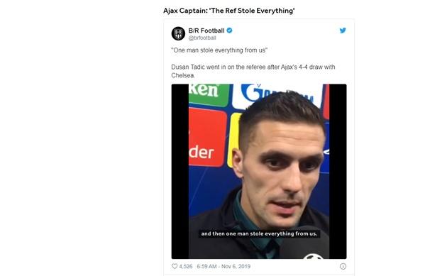 Tadic bức xúc sau trận đấu.