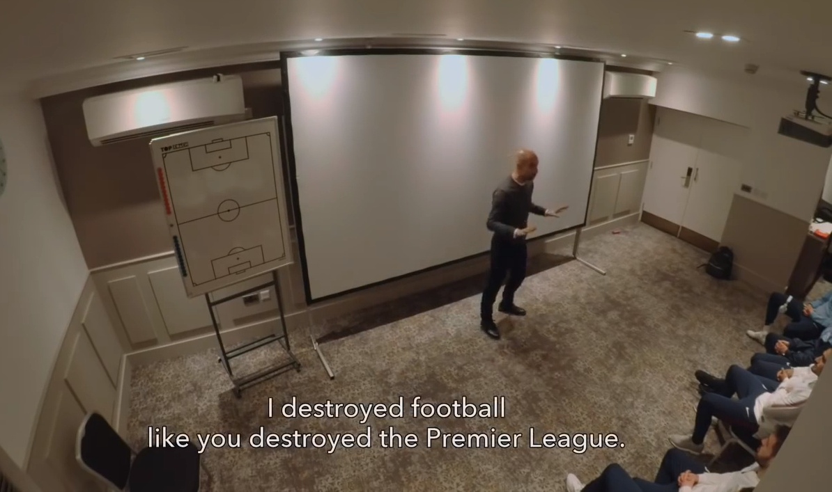 """I destroyed football like you guys destroyed the Premier league"" Pep Guardiola's dressing room talk to Man City - Bóng Đá"