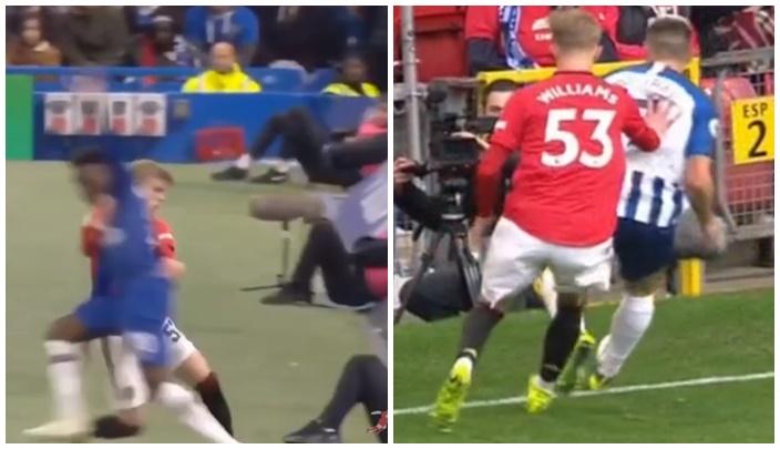 Sao trẻ Man Utd tiếp tục đẩy cầu thủ đối phương ra khỏi sân - Bóng Đá