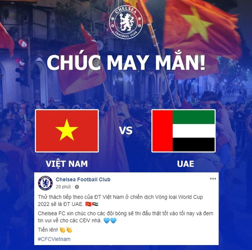 Chelsea Football Club gửi lời chúc tới ĐT Việt Nam - Bóng Đá