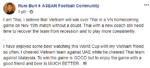 NHM xứ Chùa Vàng nói thật lòng về cán cân sức mạnh giữa Việt Nam - Thái Lan - Bóng Đá