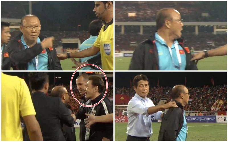 NÓNG! Bị trợ lý HLV Thái Lan khiêu khích, thầy Park nổi đóa lao vào đối đầu - Bóng Đá
