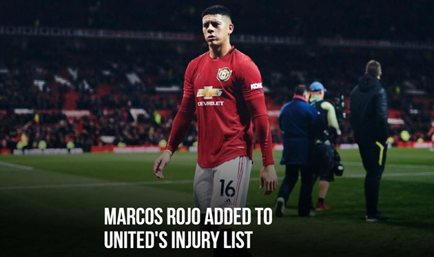 MARCOS ROJO ADDED TO UNITED'S INJURY LIST - Bóng Đá
