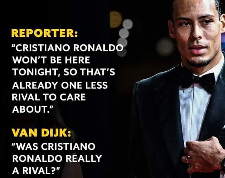 Van Dijk 'đá xoáy' Ronaldo, khâm phục Messi - Bóng Đá