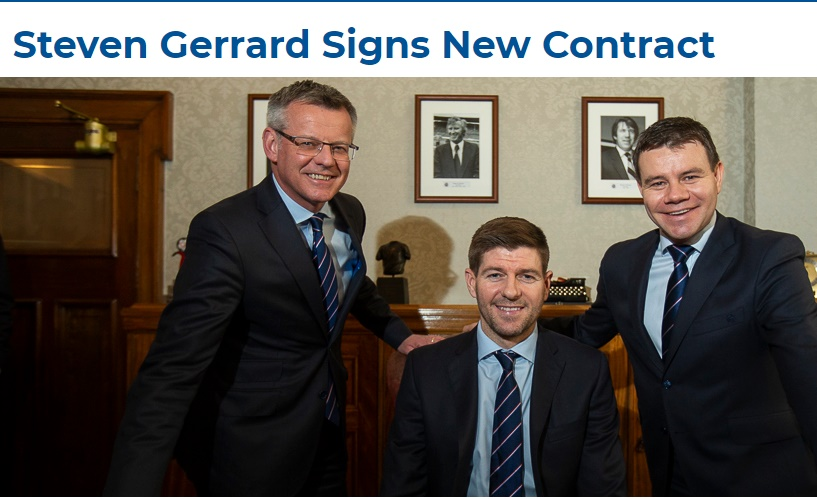 OFFICIAL: Steven Gerrard has signed a new Rangers contract until 2024 - Bóng Đá