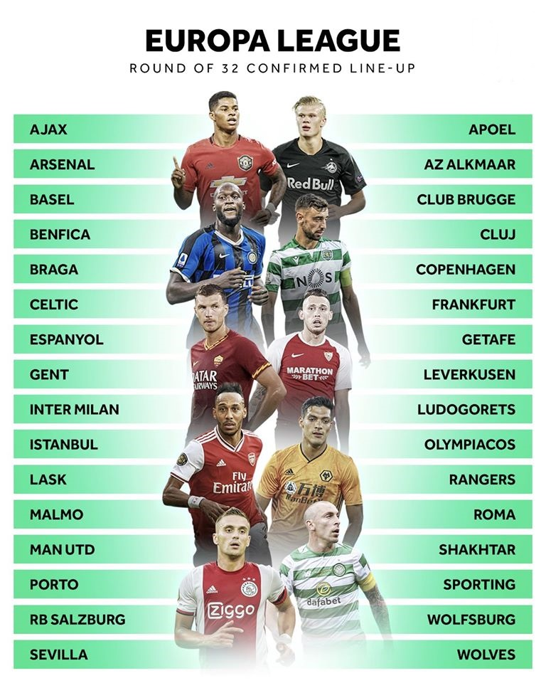 CHÍNH THỨC: 32 đội bóng lọt vào vòng knock-out Europa League - Bóng Đá