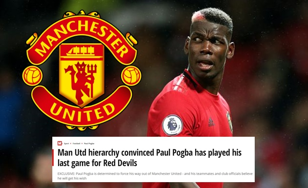 Man Utd hierarchy convinced Paul Pogba has played his last game for Red Devils - Bóng Đá