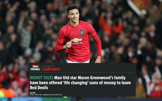 Mason Greenwood's family have been offered 'life changing' sums of money to leave Red Devils - Bóng Đá