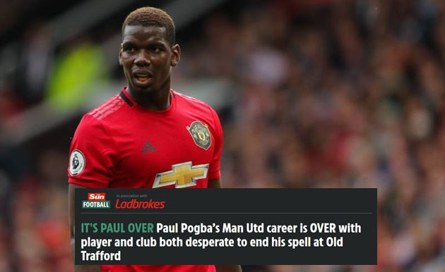 Paul Pogba's Man Utd career is OVER with player and club both desperate to end his spell at Old Trafford - Bóng Đá