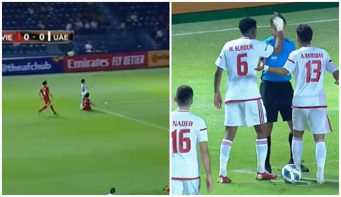 Mặc cầu thủ UAE phàn nàn, đó là quyết định chính xác từ VAR - Bóng Đá