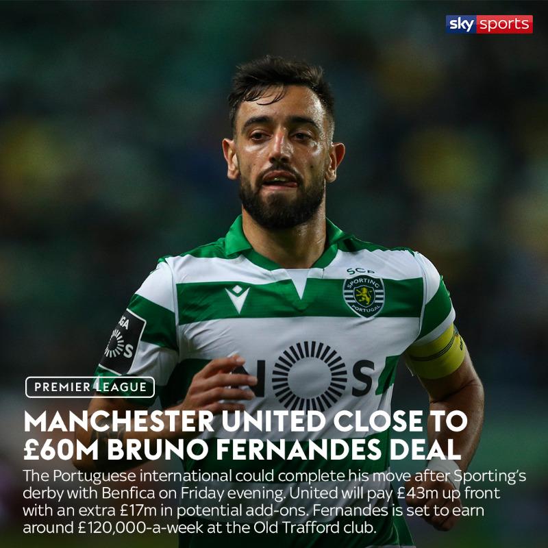4 tin tức mới nhất về thương vụ Bruno Fernandes - Man Utd - Bóng Đá