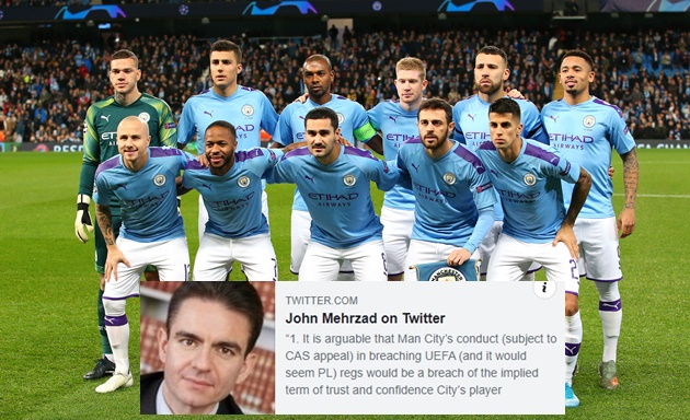 Man City stars could walk away for nothing after club 'fundamentally breached their contracts,' says top sports lawyer - Bóng Đá