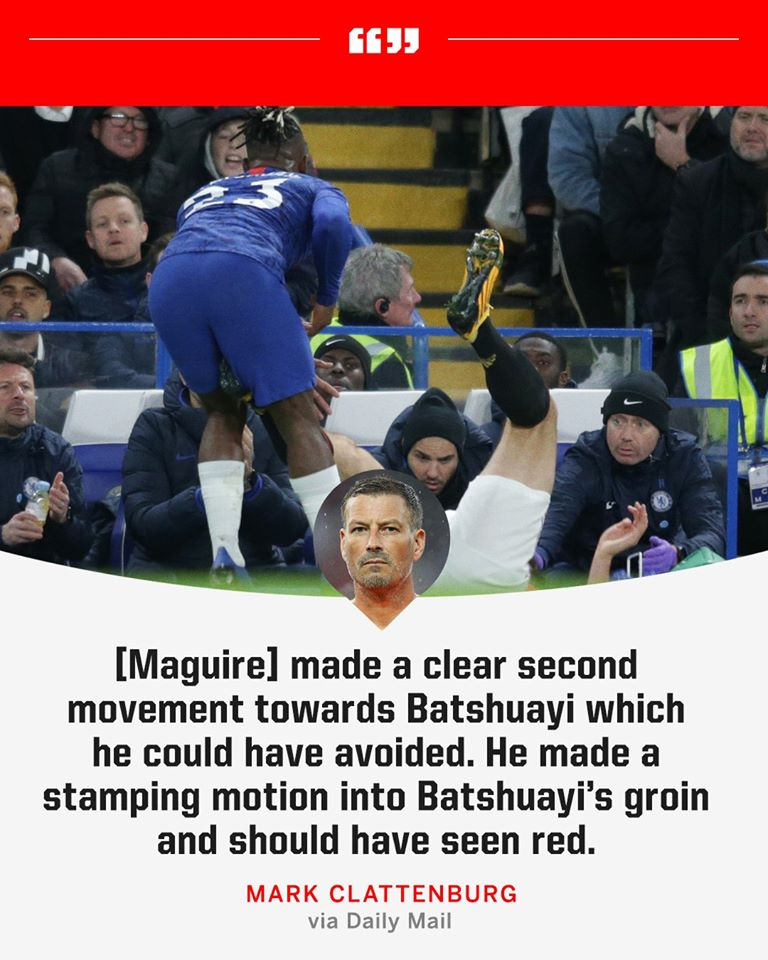 Former Premier League referee Mark Clattenburg confirms that Harry Maguire should have been sent off against Chelsea Football Club. - Bóng Đá