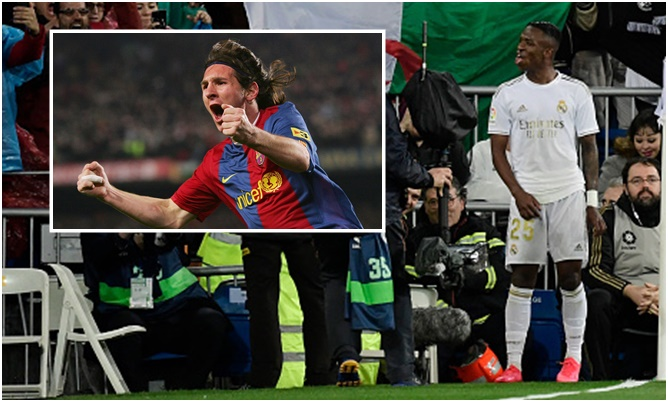 Vinicius Junior breaks Lionel Messi record as Real Madrid beat Barcelona in El Clasico The 19-year-old was on the scoresheet as R - Bóng Đá
