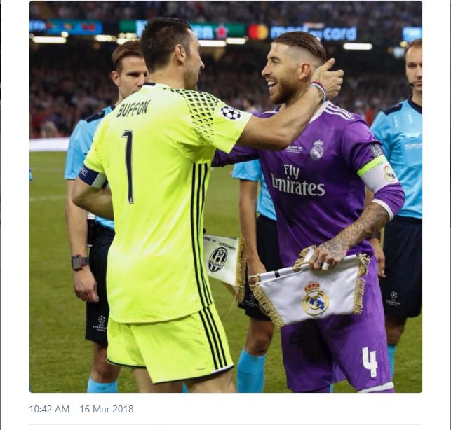 Buffon hào hứng khi gặp lại Ramos tại Champions League - Bóng Đá