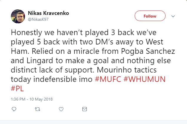 Hòa West Ham, fan Man United đã hết kiên nhẫn với Mourinho - Bóng Đá