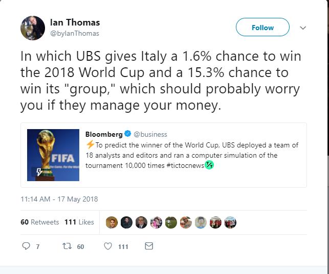 Italia ngồi nhà cũng có cửa vô địch World Cup - Bóng Đá